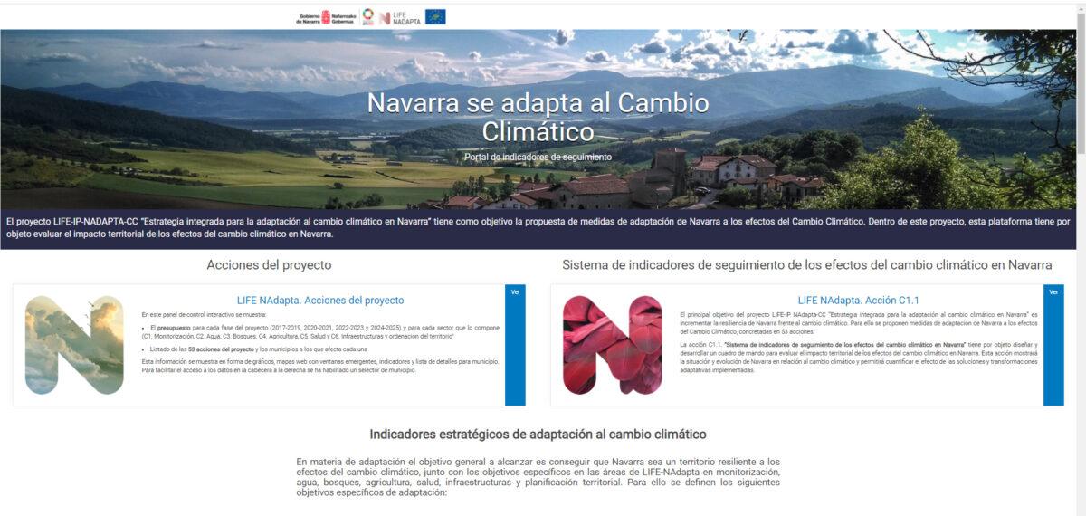 F5 Portal de indicadores de seguimiento de los efectos del cambio climático en Navarra
