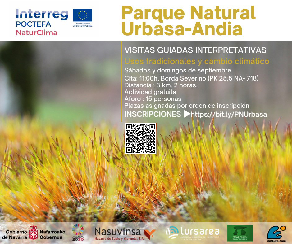 interpretazio-bisiten eta ibilbide gidatuasl Urbasa-Andia Parke Naturalean